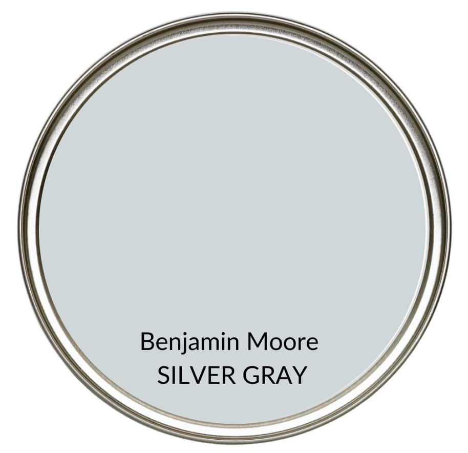 Best modern farmhouse country paint colors. Benjamin Moore Silver Gray. Kylie M Interiors Edesign, online advice blogger