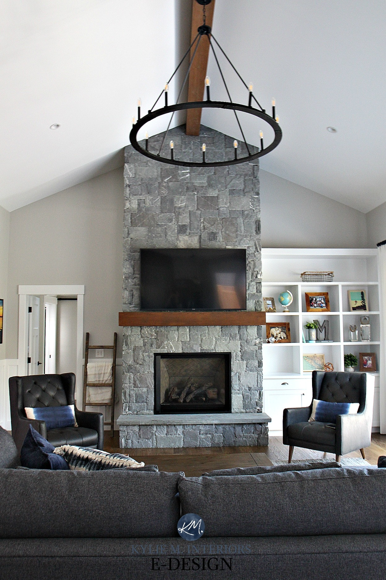 Download Living Room With Fireplace Color Ideas PNG