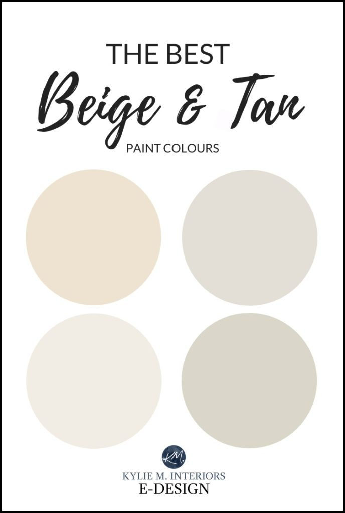 The best beige and tan neutral paint colours, Benjamin Moore. Kylie M Interiors Edesign, online virtual paint color consultant and edecor advice blogger