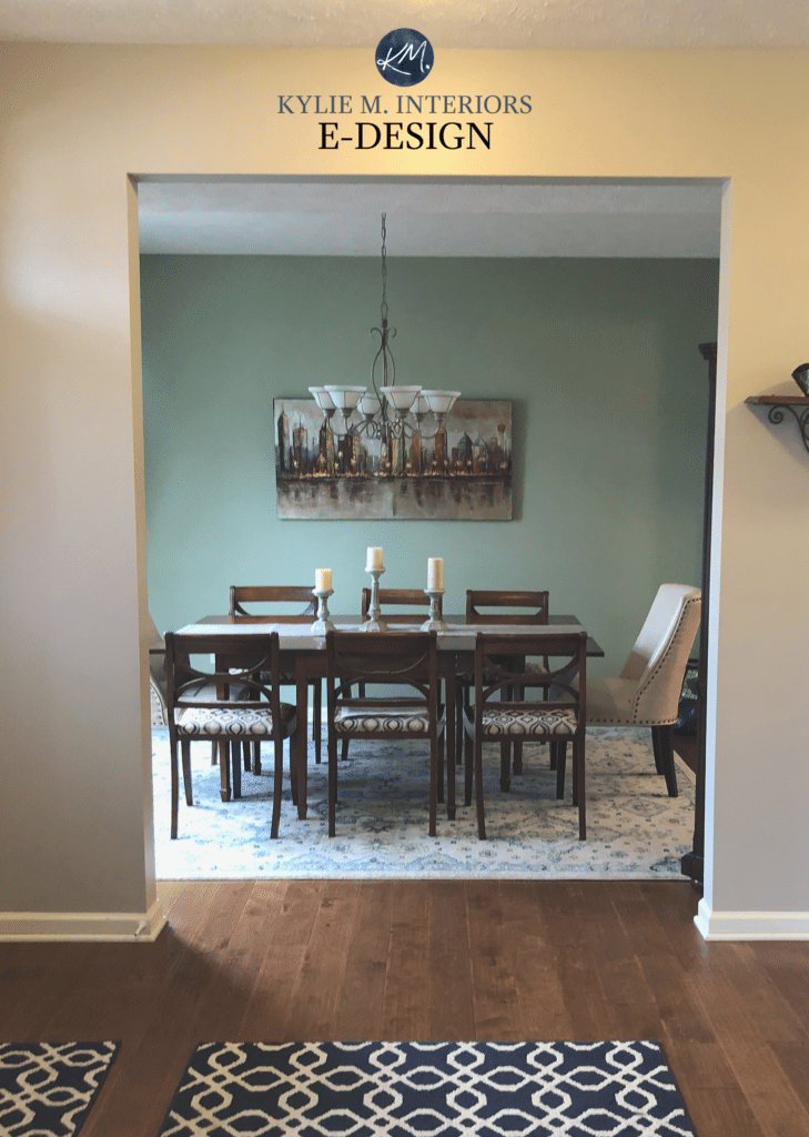 Sherwin Williams Clary Sage, best green paint colour. Kylie M INteriors E-design, online paint color expert blogger
