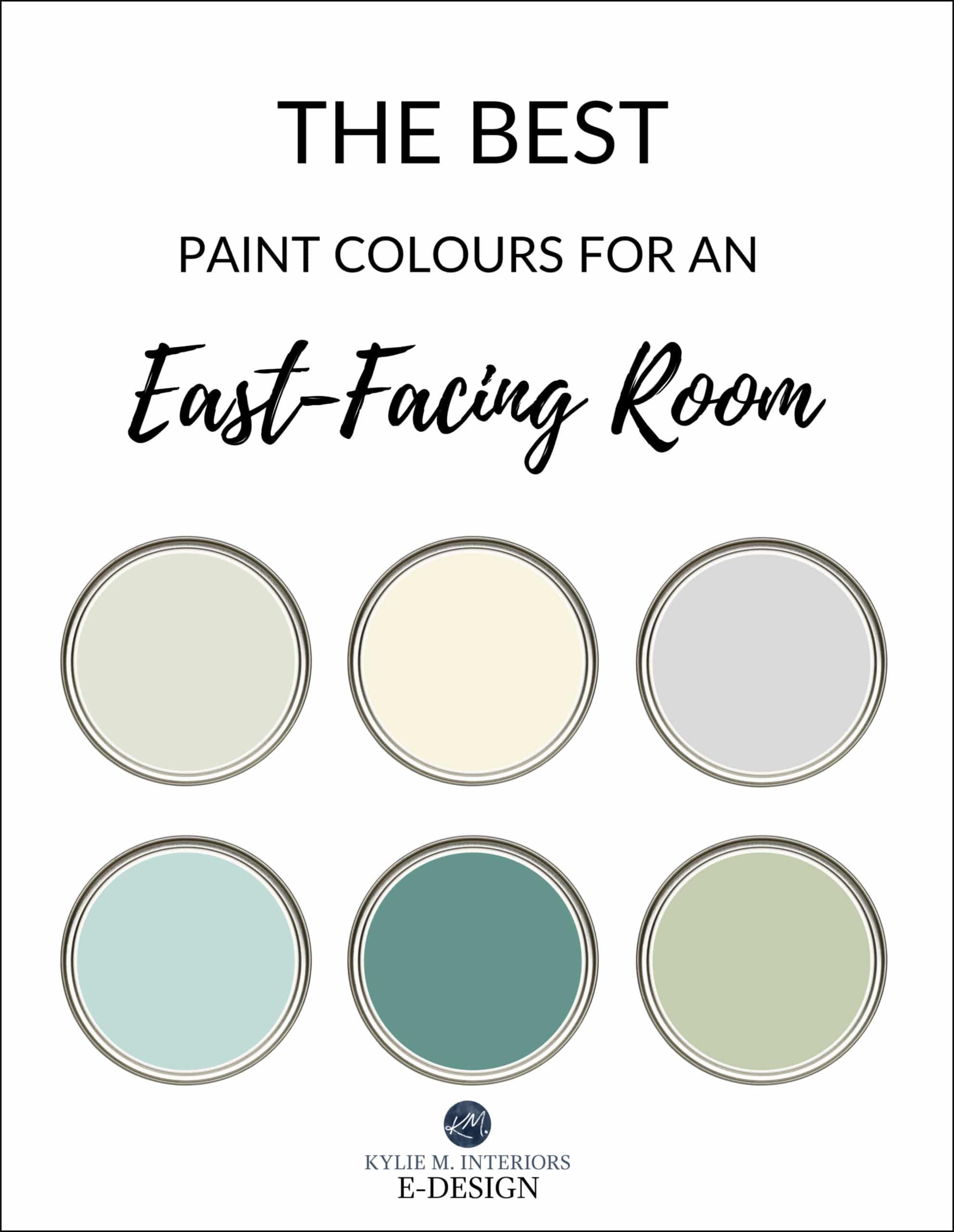 The best paint colors for east facing, eastern exposure room. Kylie M Interiors Edesign, online paint colour advice. Benjamin and Sherwin