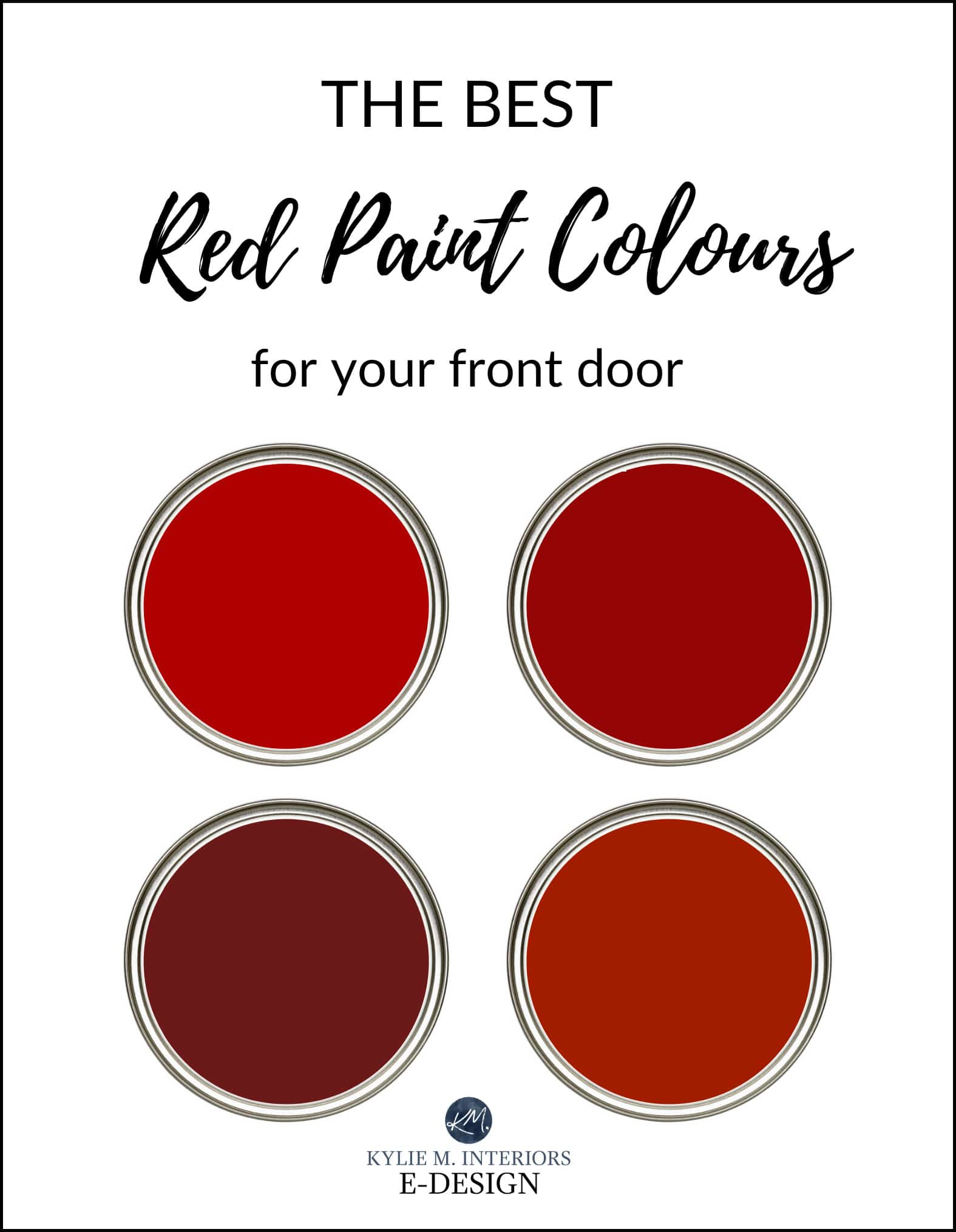 The Best Red Burgundy And Brick Paint Colors For Front Door Kylie Interiors Edesign Online