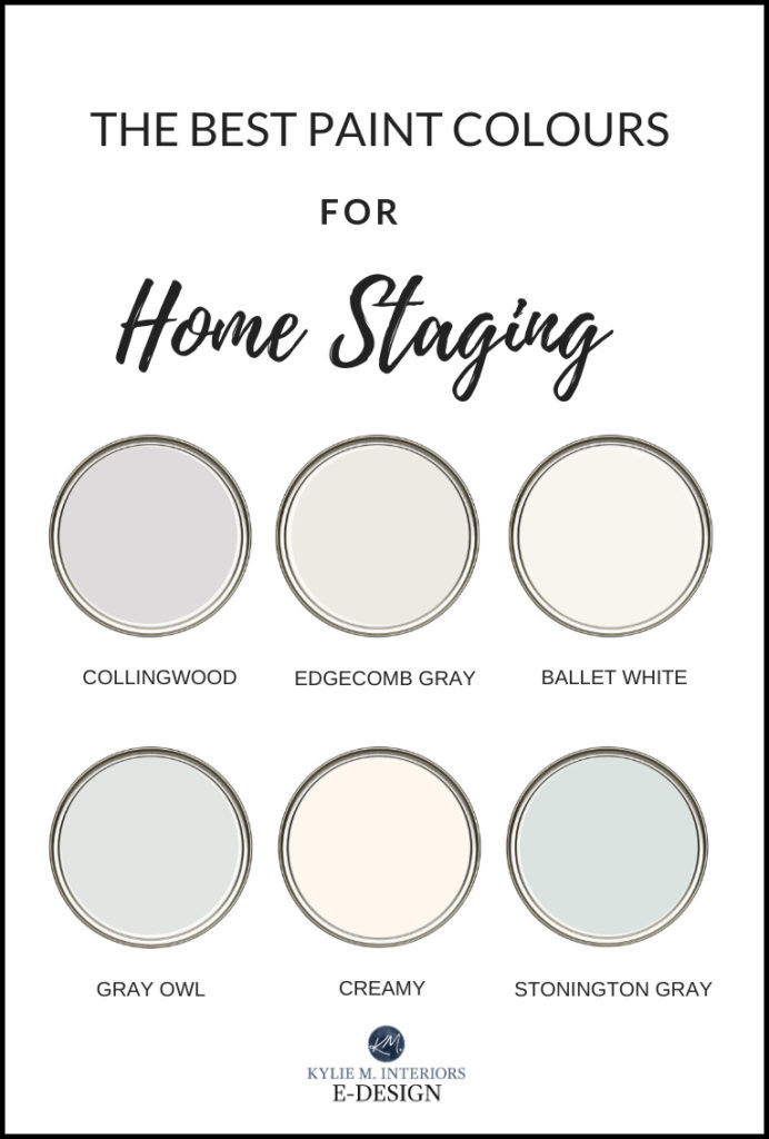 The best paint colours for home staging, ideas and tips. Kylie M Interiors Edesign, online paint colour advice