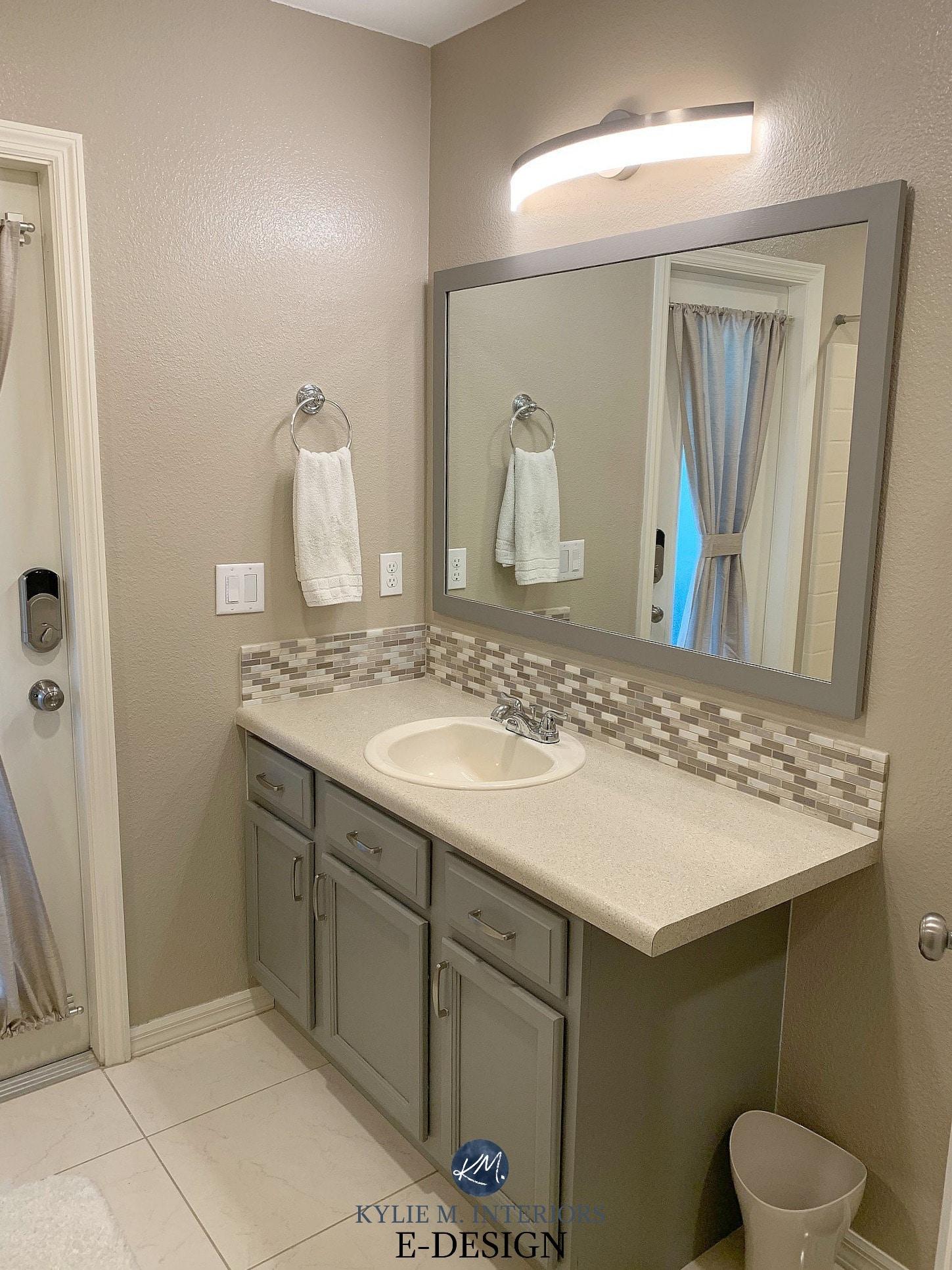 best paint colours for almond or bone bathroom fixtures