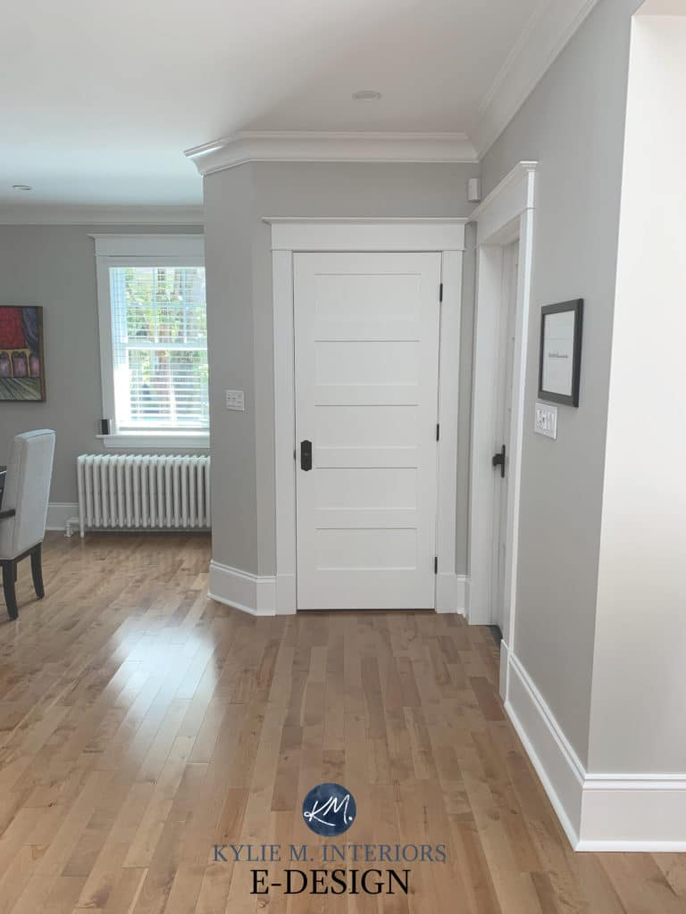 Best warm gray paint colour, Benjamin Moore Collingwood. Popular neutral. Kylie M Interiors Edesign, online color consultant and diy decorating advice (1)