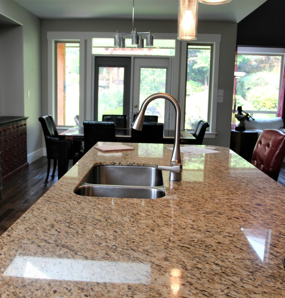 Kitchen and countertop before
