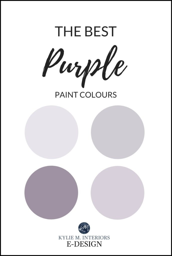 The best purple paint colours or neutral with purple undertones. Kylie M Interiors Edesign, online paint color consulting and virtual edesign specialist