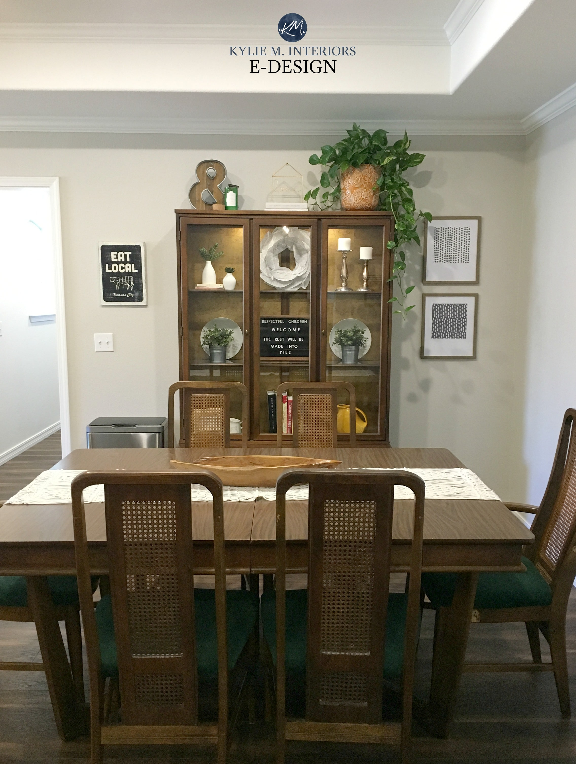 Dining Room In Sherwin Williams Agreeable Gray Traditional
