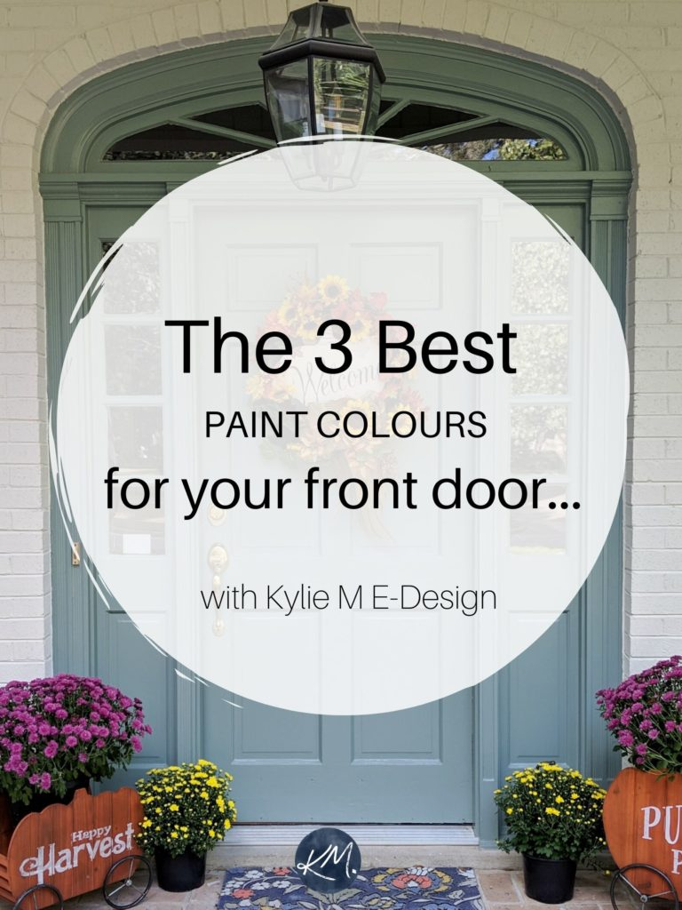 The best paint colors for front door exterior. Benjamin or Sherwin. Edesign, Kylie M Interiors Colour consulting and home decorating and diy ideas blogger.market