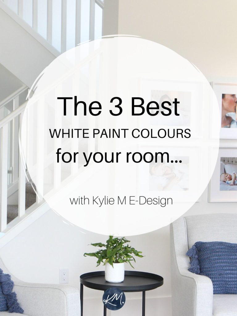 The best white and gray paint colors for kitchen cabinets or bathroom vanity. Edesign, Kylie M Interiors Online colour consulting. Home Decorating and diy ideas blogger