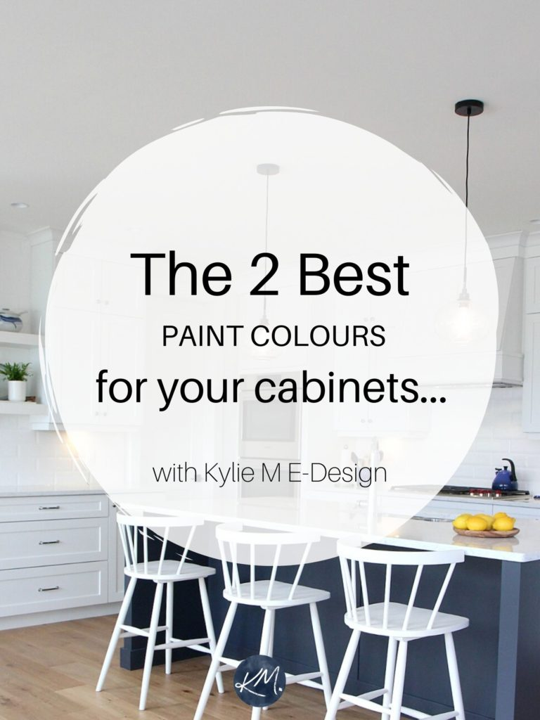 The best white and gray paint colors for kitchen cabinets or bathroom vanity. Benjamin or Sherwin. Edesign, Kylie M Interiors Online colour consulting. Home Decorating and diy ideas blogger