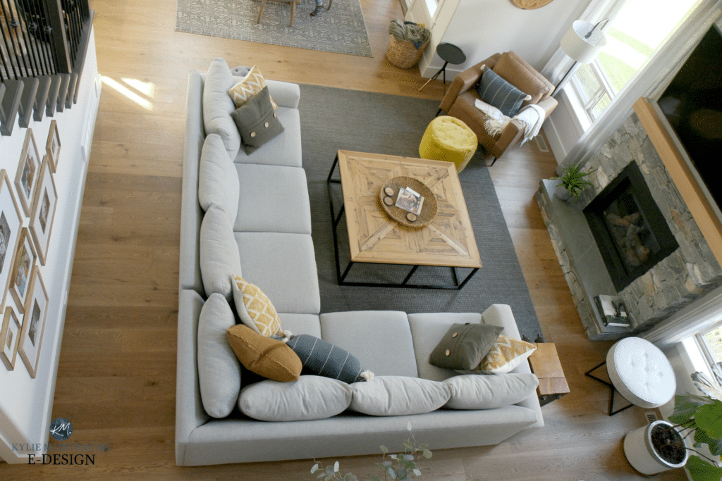 Gray Sectional In Living Room Furniture Layout Diy Decorating And