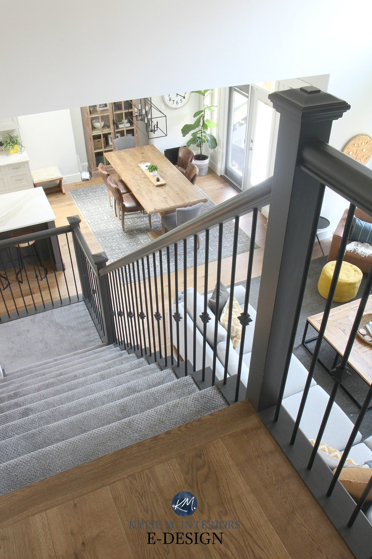 Open staircase layout, carpet stairs, painted stair ...