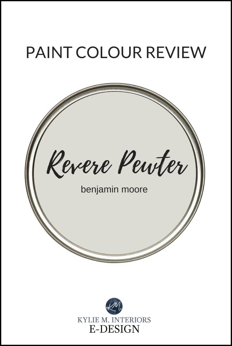 Best warm gray paint colour, Benjamin Moore Revere Pewter review by Kylie M Interiors Edesign. Online paint colour advice and diy decorating blog and consulting