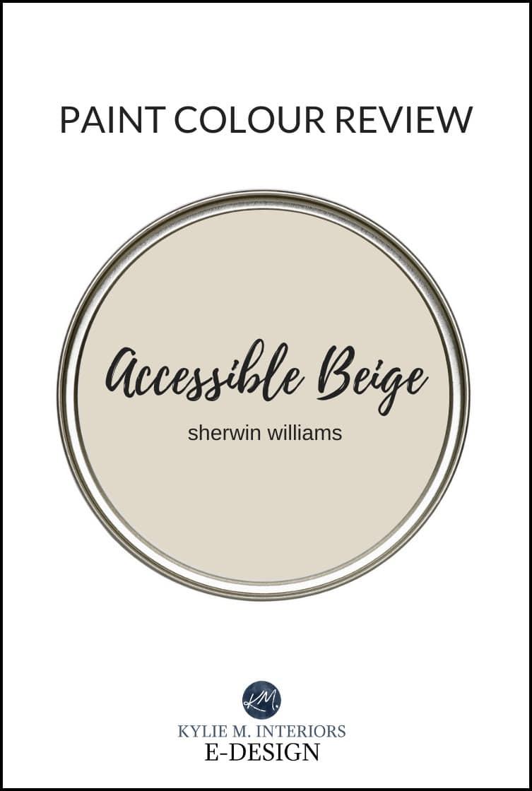Paint colour review of the best beige tan paint colours, Sherwin Williams Accessible Beige. Kylie M Interiors Edesign, online paint color advice