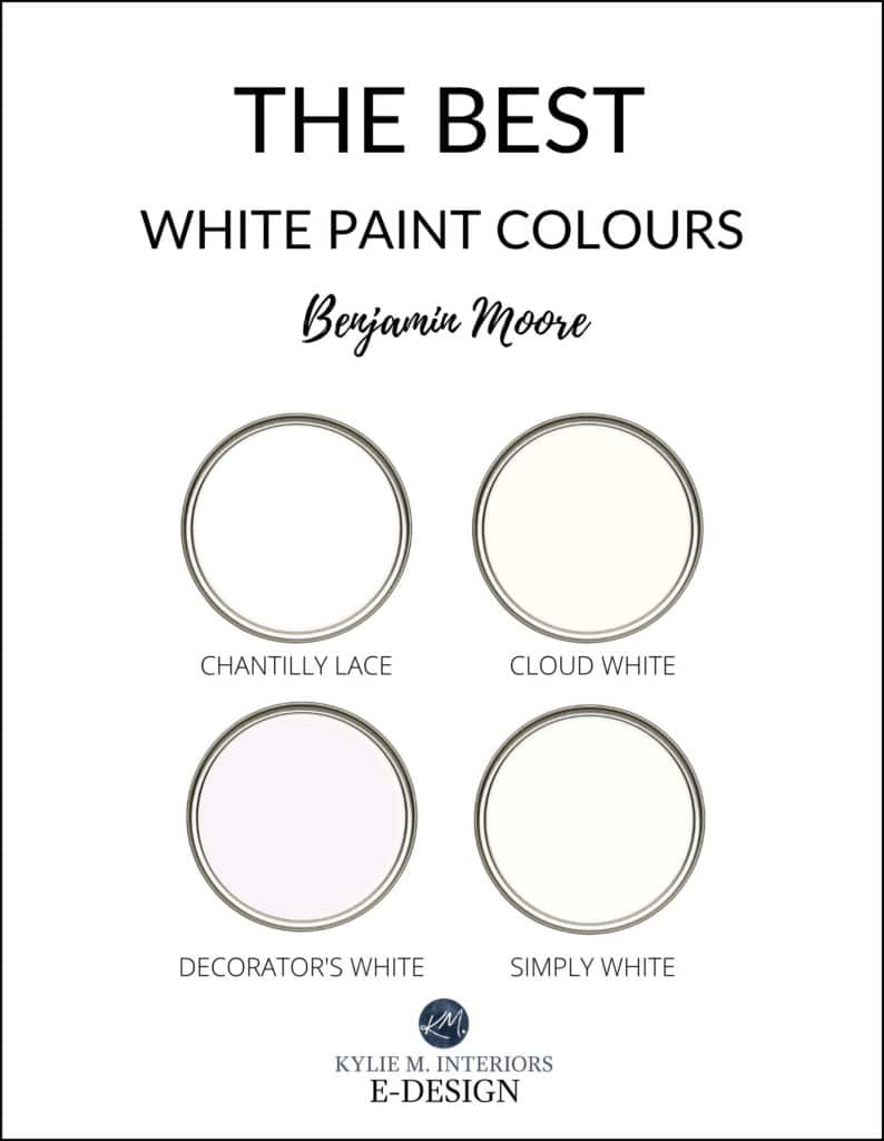 The best, most popular white paint colour from Benjamin Moore. Kylie M Interiors Edesign, diy decorating and color review blogger.