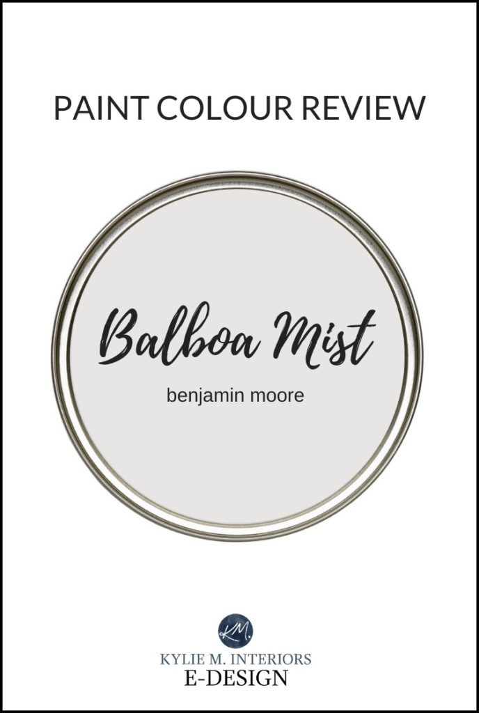 Best warm gray paint colour review, Benjamin Moore Balboa Mist. Kylie M Interiors Edesign, online paint color consultant and edesign, edecor blogger