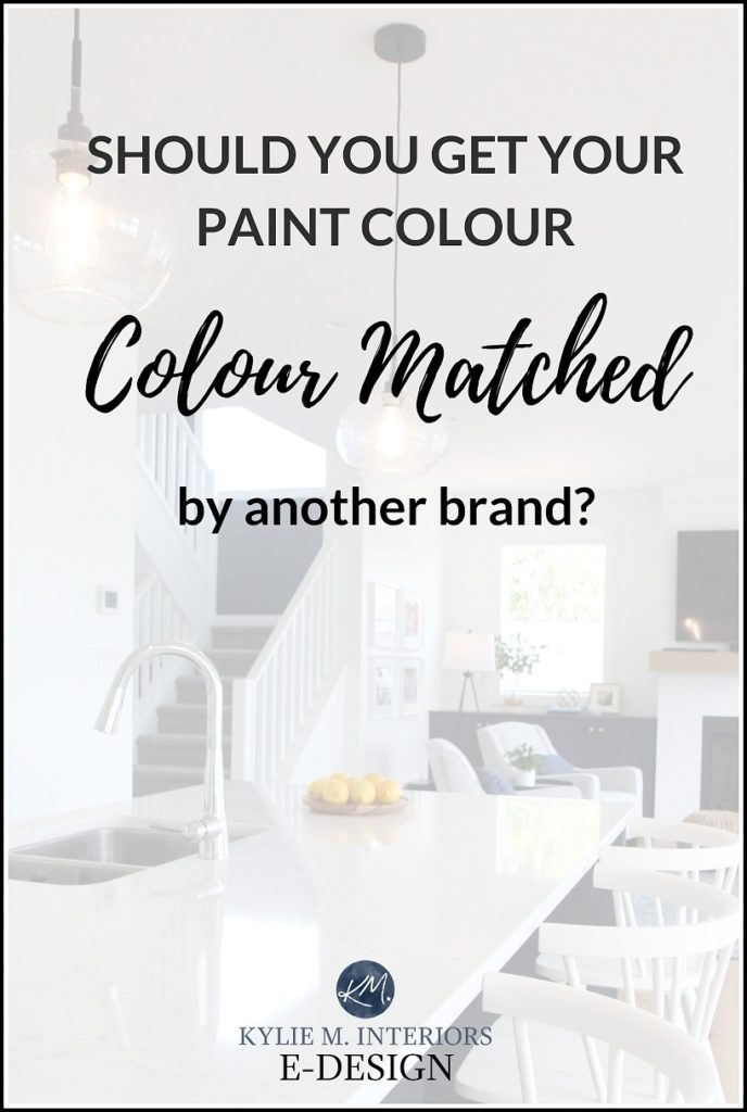 Can paint brands colour match each others paint colours. Kylie M Interiors Edesign, online paint colour advice and virtual colour consulting services