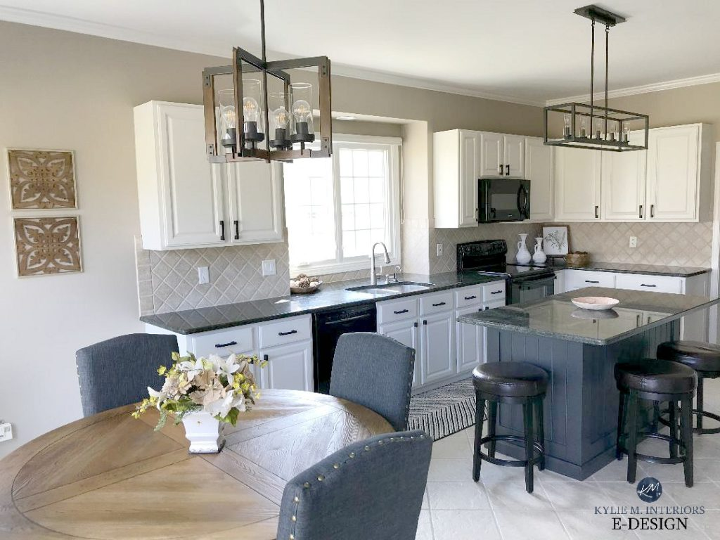 Kitchen update ideas, painted maple cabinets, off-white ...