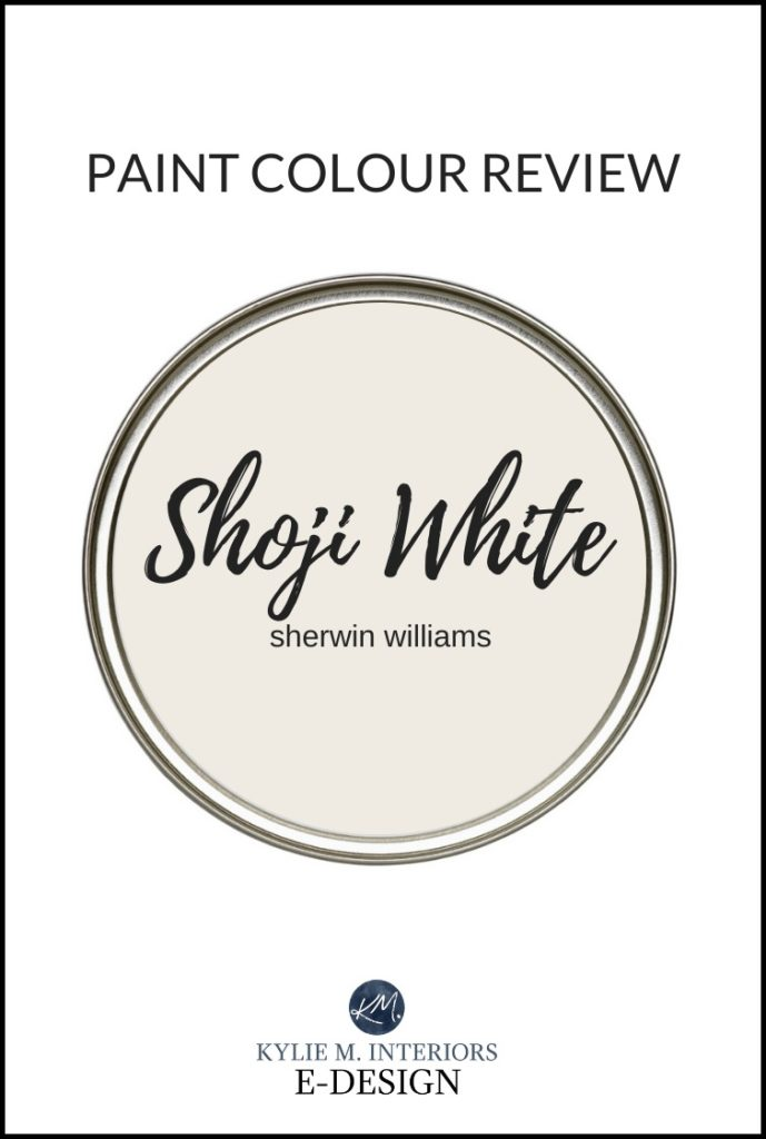 Paint colour review, best off white warm greige paint colour, Sherwin Williams Shoji White. Kylie M Interiors Edesign, online paint colour consulting services