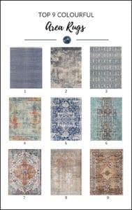 The Top 9 Colourful Area Rugs. Wayfair. Kylie M Interiors. E-design, E-decor, online paint colour advice.