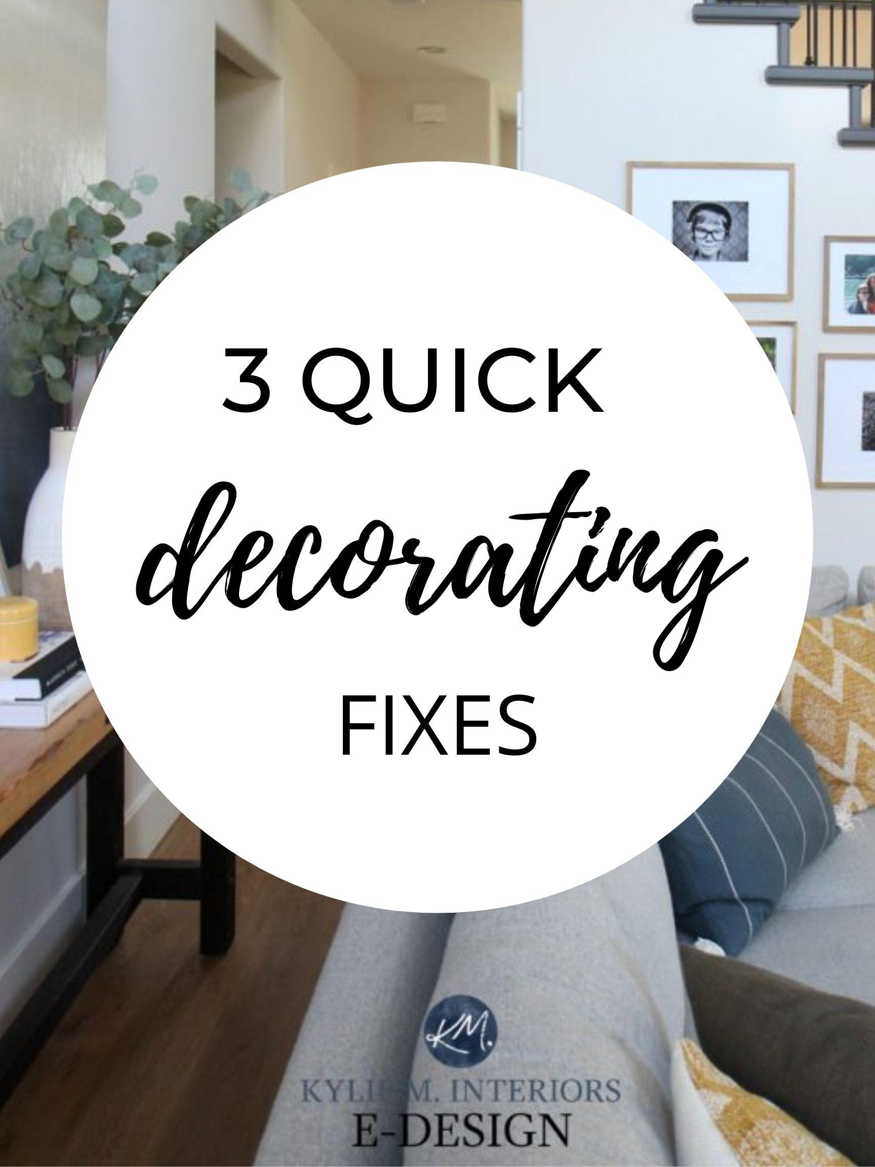 How to fix, design, decorate a room lighting, artwork, home decor. Kylie M Interiors diy edesign