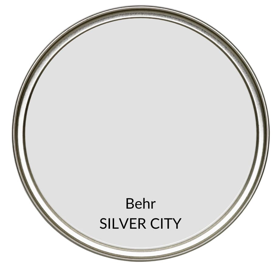 Paint Colour review of Behr Silver City, best gray paint color. Kylie M Interiors Edesign, popular paint colour advice and consulting on top colours