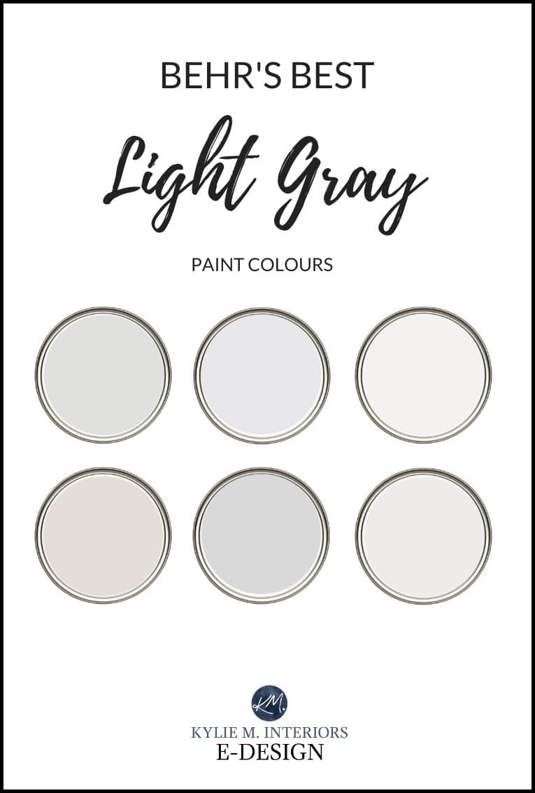 The 20 Best BEHR Light Gray Paint Colours Cool and Warm   Kylie M ...