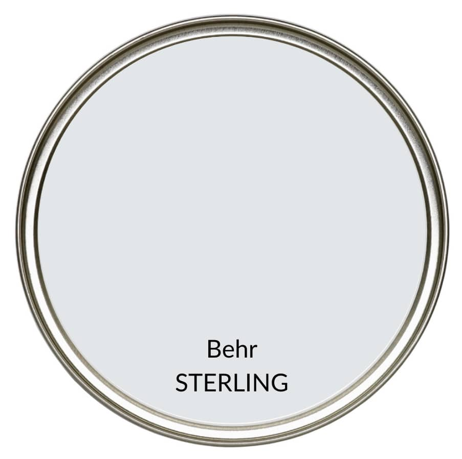 The best cool gray paint colour, review of Behr Sterling. Kylie M Interiors Edesign, online paint color advice consultant