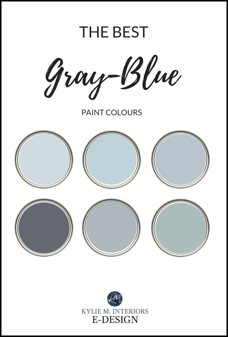 The 10 Best Blue Gray Paint Colours Calming Relaxing And Cool Kylie M Interiors