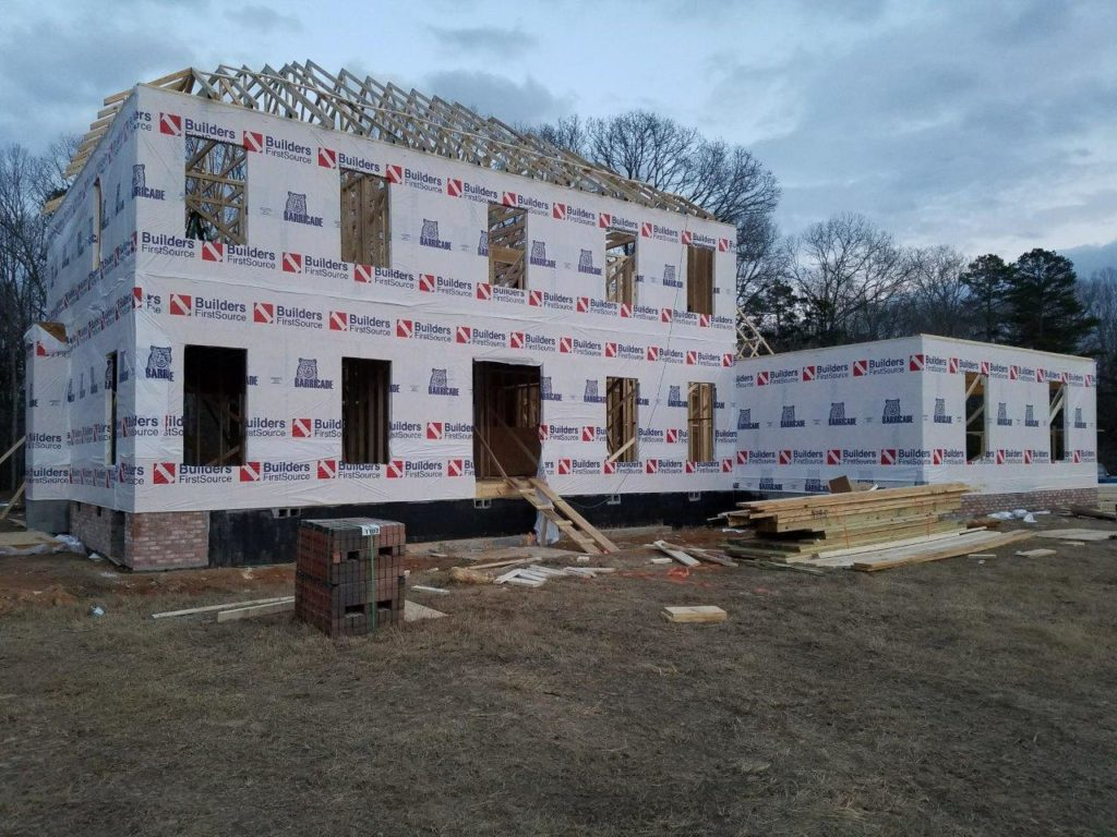 Exterior new construction framing phase (2)
