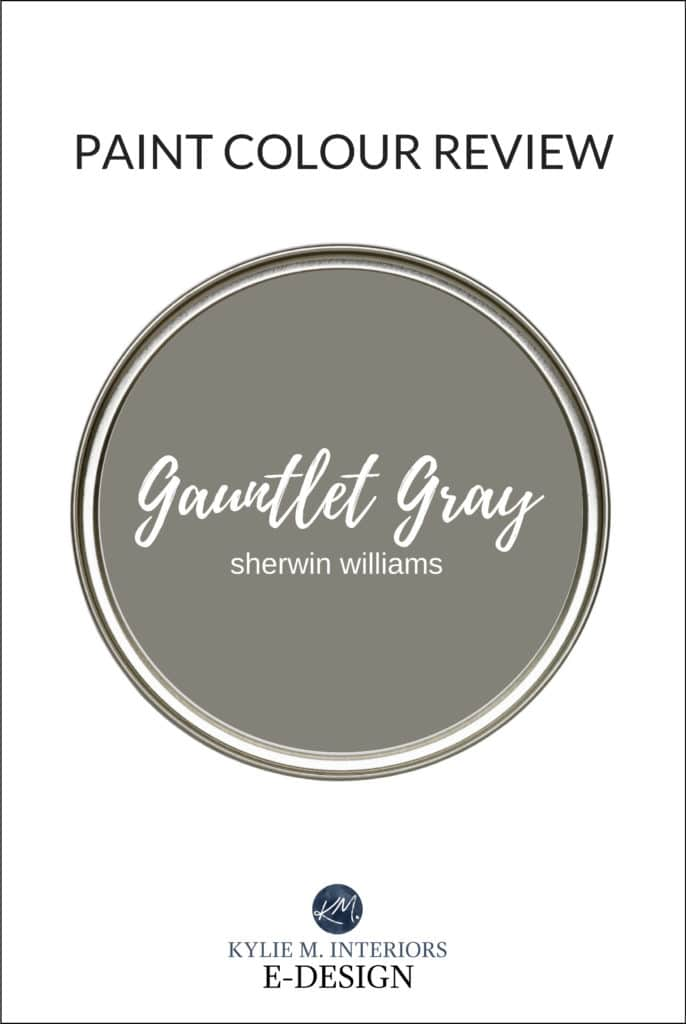 Paint colour review, best dark gray or charcoal paint color, Sherwin Williams Gauntlet Gray. Kylie M Interiors Edesign, virtual or online paint color consulting and diy decorating advice blogger