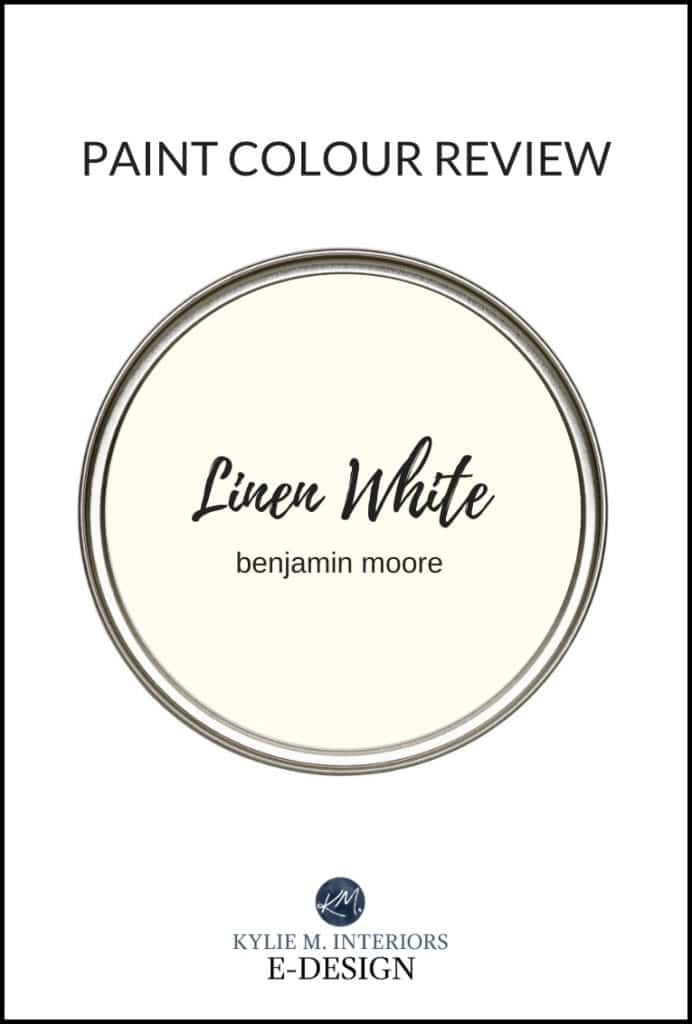 Paint colour review by colour expert Kylie M Interiors. Benjamin Moore Linen White, warm creamy off-white paint color. Edesign, online paint colour and decorating advice blogger