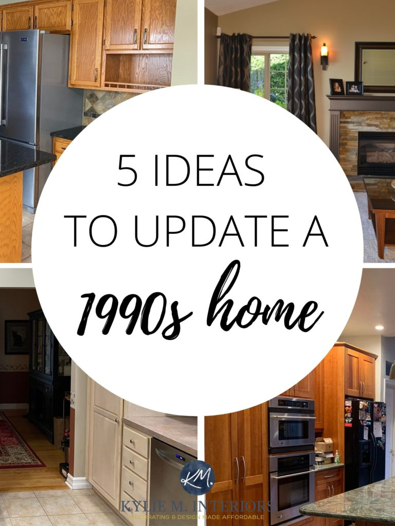 ideas and tips to update and modernize a 1990s home, granite, beige tile and more. Kylie M Interiors Edesign, diy advice