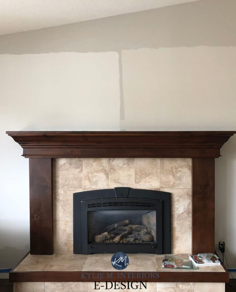 Update beige tile or carpet ideas. COLLINGWOOD WALL, Classic Gray, Pale Oak, Benjamin Moore warm grays and taupe. Kylie M Interiors Edesign.