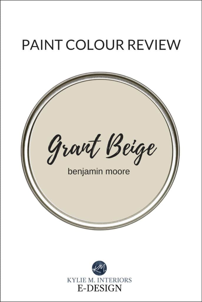 Paint colour review, best beige paint colour, Benjamin Moore Grant Beige, tan color. Kylie M Interiors Edesign, online paint colour expert and diy decorating blogger