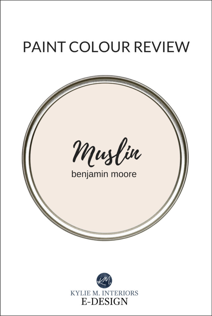 Paint colour review, best beige paint colour, Benjamin Moore Muslin. Kylie M Interiors Edesign, online paint colour expert and diy decorating blogger
