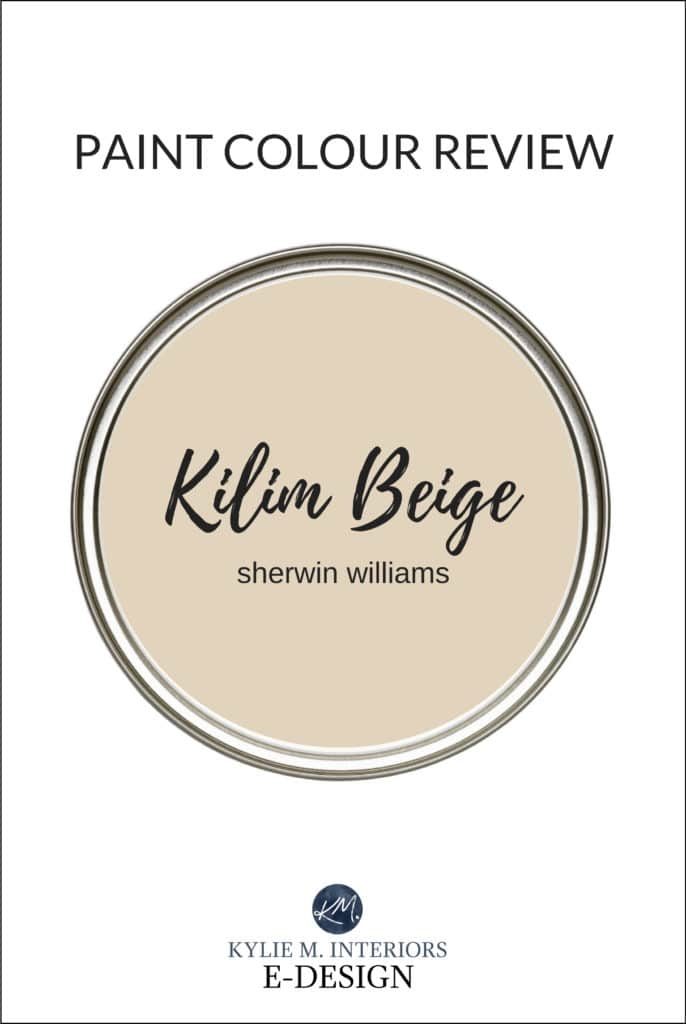 Paint colour review, the best warm beige neutral paint color, Sherwin Williams Kilim Beige. Kylie M Interiors Edesign online diy decorating and design advice