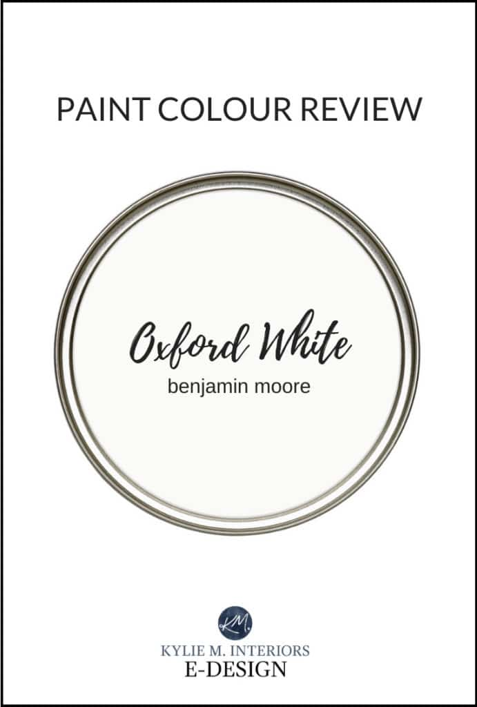 Best white paint colour, Kylie M Interiors Edesign reviews Benjamin Moore Oxford White for cabinets, walls, exteriors and trim