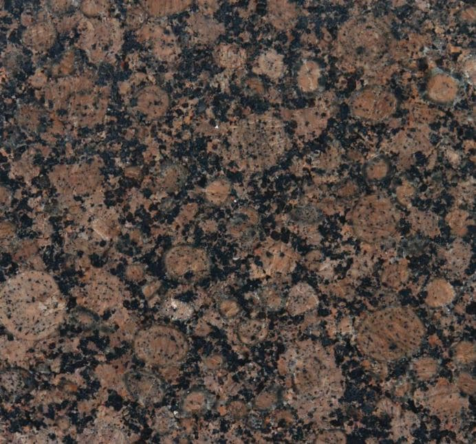 Ideas to update, modernize Baltic Brown granite countertop tile. Painted cabinets and backsplash. Kylie M Interiors Edesing