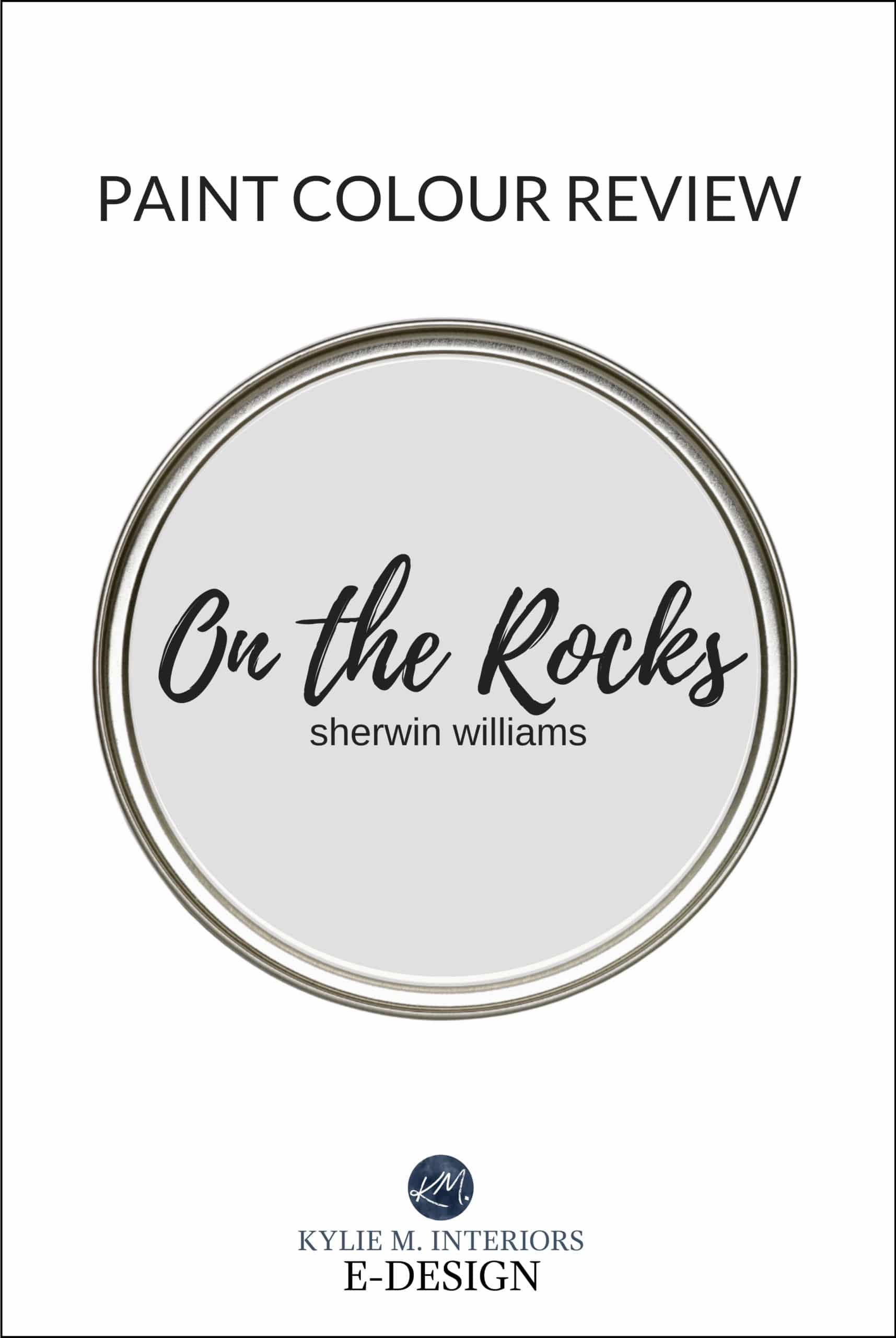 Kylie M Interiors Paint Colour review, best gray paint colour, Sherwin Williams on the Rocks.