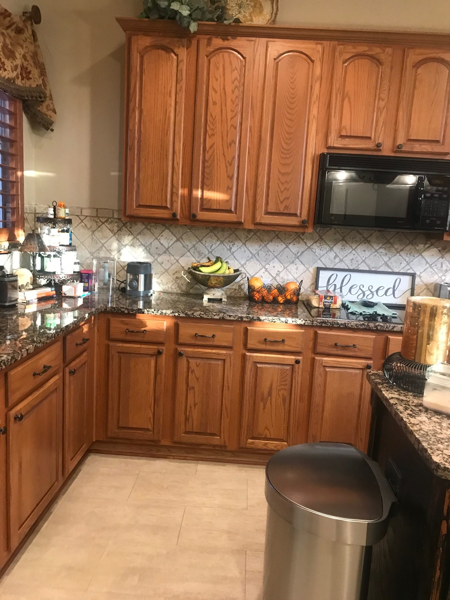 oak kitchen cabinet update ideas before being painted