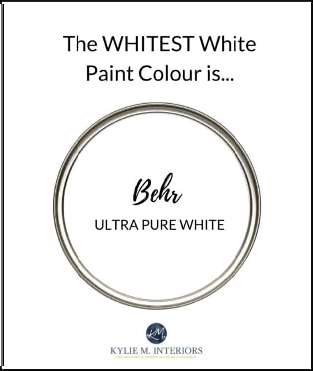 What is the whites white or most white paint colour. Behr Ultra Pure White. REview by Kylie M Interiors. Best white paint colours from top brands (2)