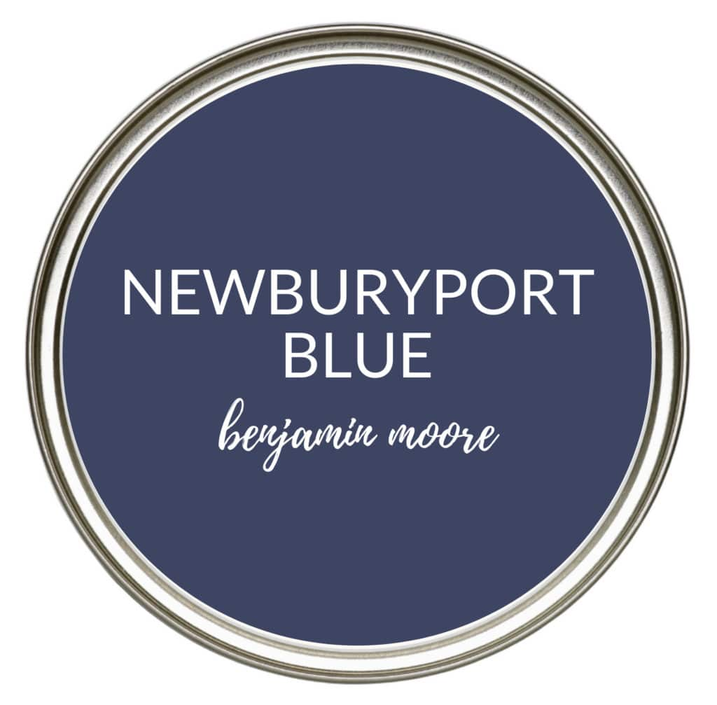 Benjamin Moore Newburyport Blue, the best most popular navy blue paint colour for kitchen cabinets, lowers, island, vanity. Kylie M Interiors Edesign