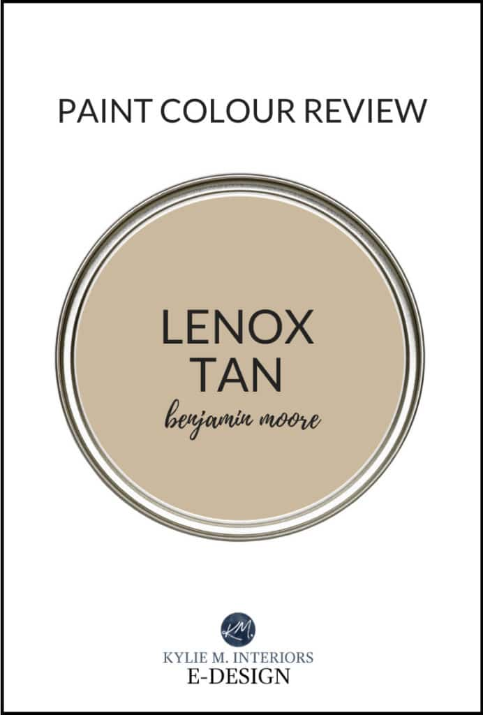 Paint colour review, popular beige neutral, Benjamin Moore Lenox Tan. Kylie M Interiors Edesign, diy decorating blogger and advice (2)
