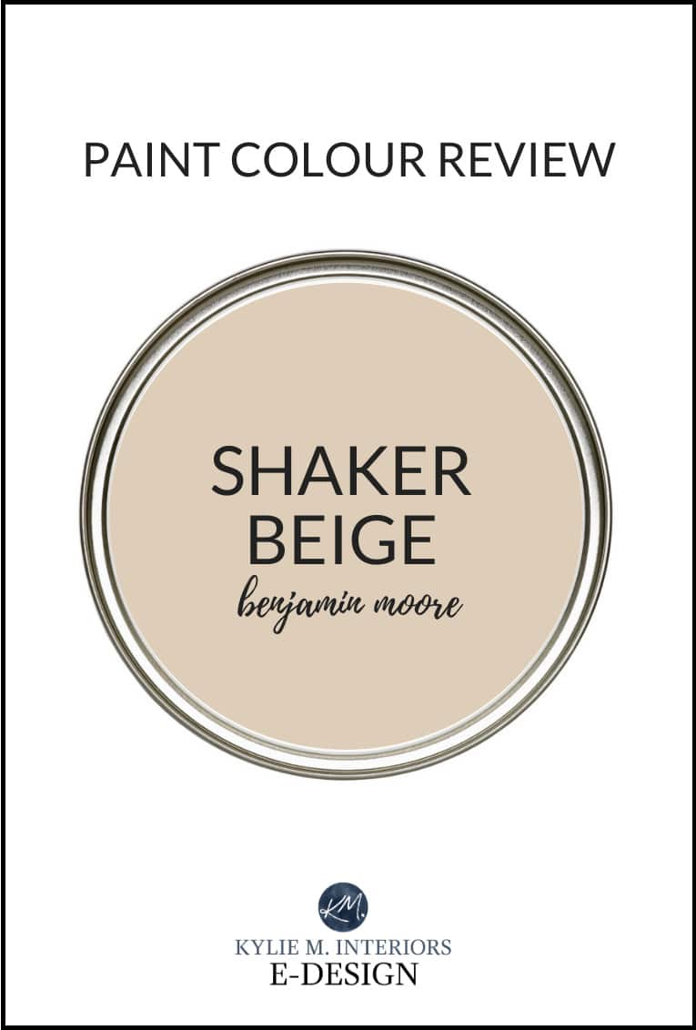 Paint colour review, popular beige neutral, Benjamin Moore Shaker Beige. Kylie M Interiors Edesign, diy decorating blogger and advice (1)