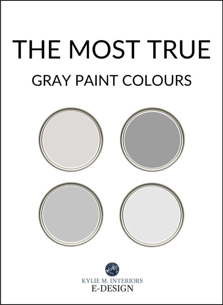The most true, real gray paint colours, Benjamin and Sherwin. Kylie M Interiors Edesign, online paint color consult and diy decor advice blogger