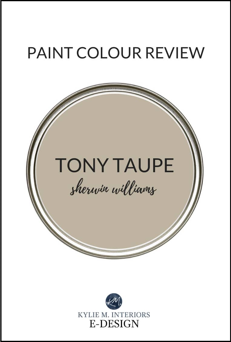 Sherwin Williams Tony Taupe, a popular slightly darker beige paint colour. Kylie M Interiors EDESIGN