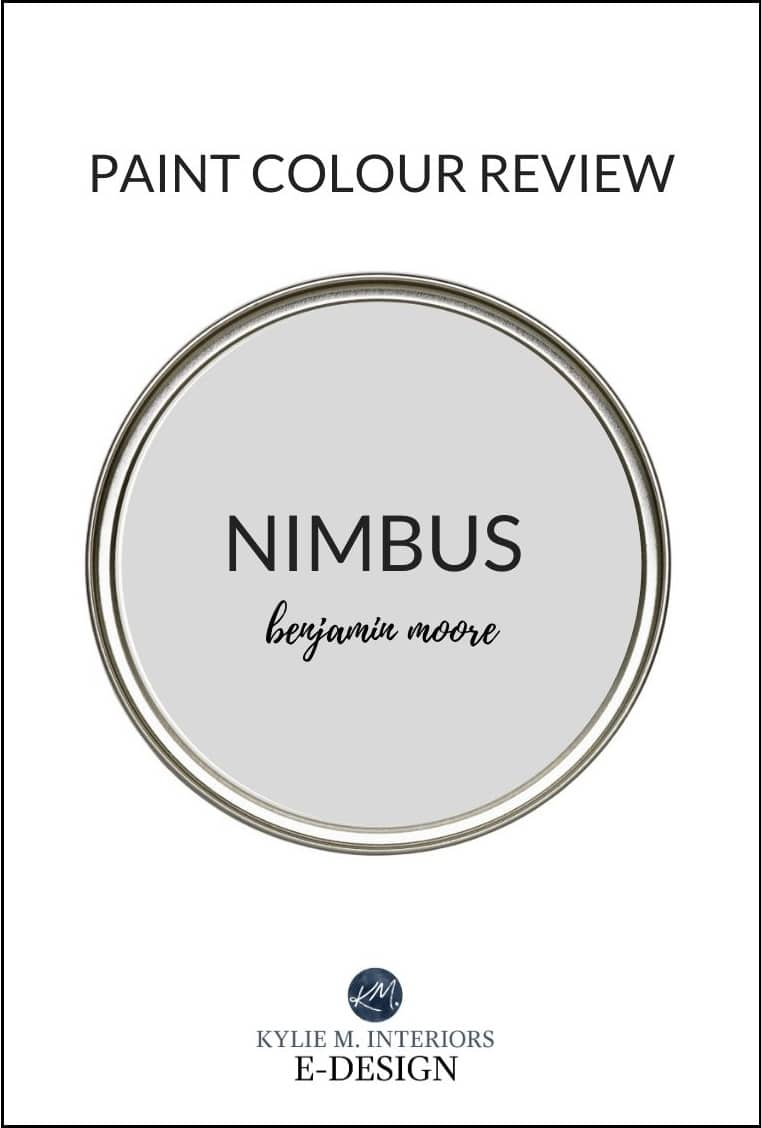 Benjamin Moore Nimbus, popular warm grey paint colour. Review by Kylie M Interiors Edesign, virtual consultant
