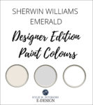 Review, Sherwin Williams Designer Emerald Edition paint colours. Kylie M Interiors Edesign